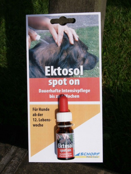 Ektosol spot on Hund