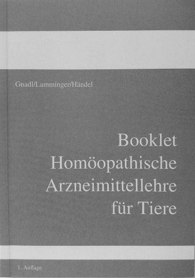 Booklet Homöopathische Arzneimittellehre für Tiere