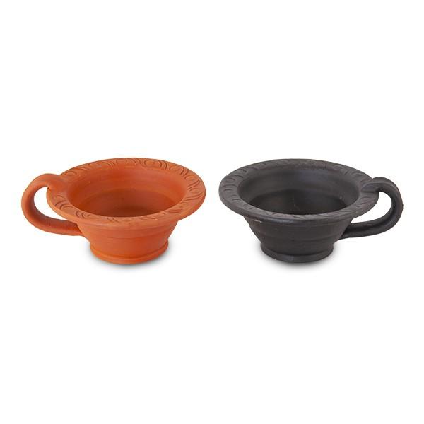 Räuchergefäß aus Ton schwarz oder rot